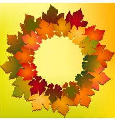 autumn leaf backgroundr vector image