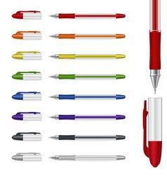 ballpoint pens set vector image