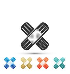 Bandage plaster icon isolated on white background vector