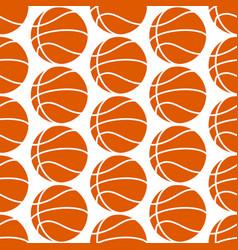 basketball seamless pattern vector image