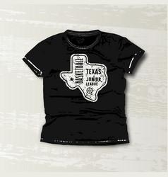 basketball texas junior league emblem vector image