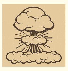big explosion sketch drawing vintage element vector image