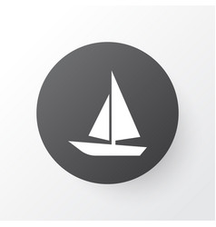 Boat icon symbol premium quality isolated ship vector