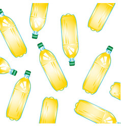Bottles with juice vector