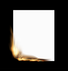 Burning white sheet vector