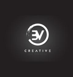 Bv circular letter logo with circle brush design vector