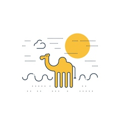 Camel outdoor simple cartoon vector
