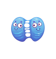 Cartoon virus cell icon bacteria division vector