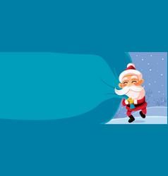 Christmas banner cartoon vector