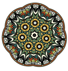 colorful mandala on a white background vector image