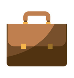 Colorful silhouette of executive briefcase with vector