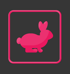 cruelty free flat icon vector image