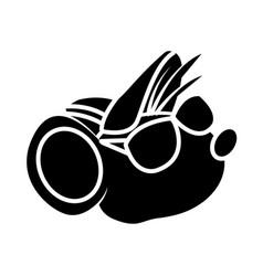 Cute mouse worker cartoon vector