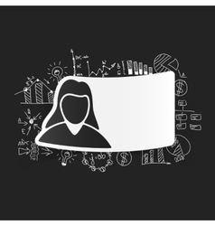 Drawing business formulas woman vector