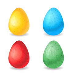 eggs different colors vector image