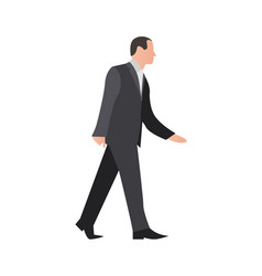 European businessman in suit and tie vector