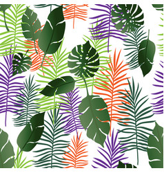 exotic tropical seamless pattern vector image