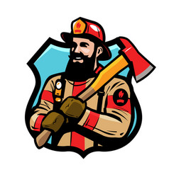 Fire department logo or label american vector