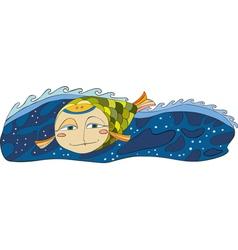 Fish Sea Isplated vector image