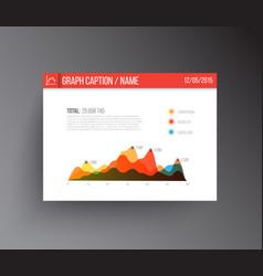 Flat design infographics statistics graph vector