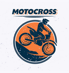 Flat dynamic extreme sport with moto free style vector