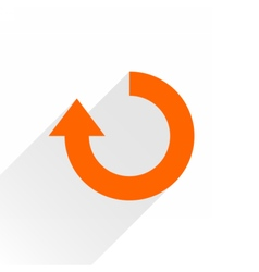 Flat orange arrow iconrefresh rotation sign vector