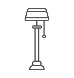 floor lamp isolated icon in linear style vector image