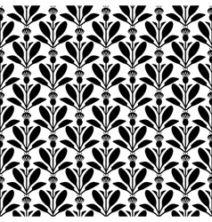 flower pattern silhouette vector image