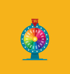 fortune of wheel flat vector image