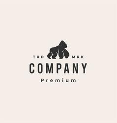 Gorilla hipster vintage logo icon vector