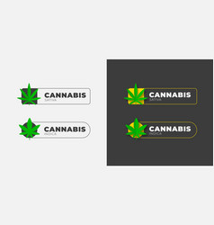 graphic logo design with an organic cannabis leaf vector image