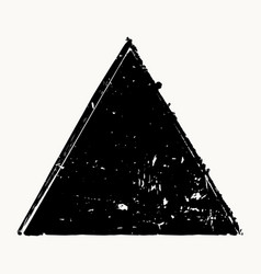 Grunge isolated triangle vector