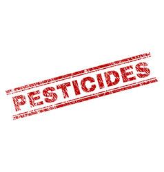 Grunge textured pesticides stamp seal vector