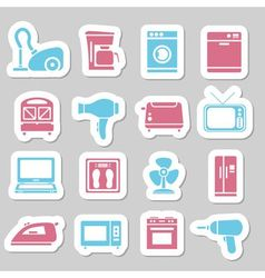 Home appliance stickers vector