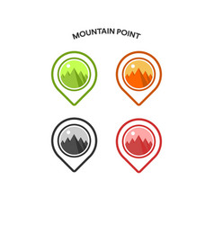 inspiration for mountain design logo and pin vector image