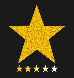isolated gold and yellow star icons in set vector image