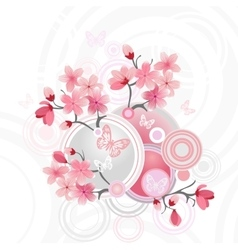 Japanese cherry blossom for your design vector image