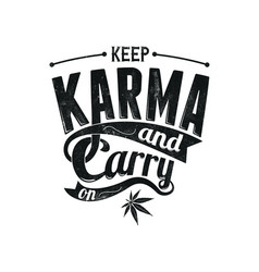keep karma vector image