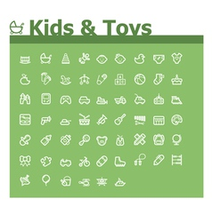 Kids and toys icon set vector