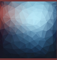 light blue dark low poly crystal background vector image