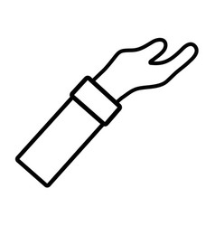 line man arm hand up icon vector image