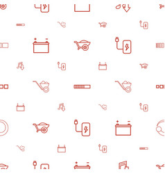load icons pattern seamless white background vector image