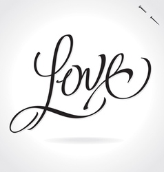 LOVE hand lettering vector