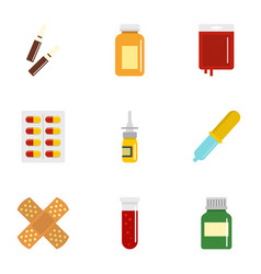 Medical care icon set flat style vector