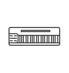 mellotron linear icon vector image