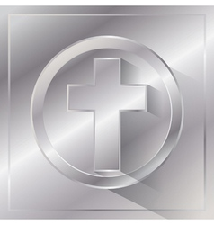Metal Cross vector image