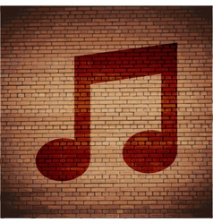 Music note Flat modern web button and space for vector image
