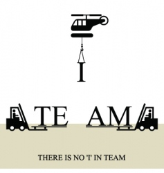 No 'I' in team poster vector