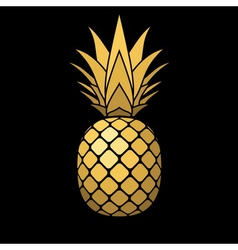 pineapple gold icon vector image