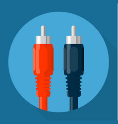 rca connectors icon vector image